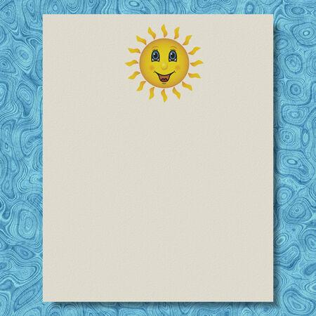 Sun writing paper marble texture background Фото со стока