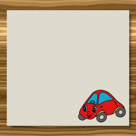 Car writing paper wood texture background Фото со стока
