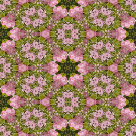 generative: Kaleidoscopic flower seamless generated texture or background