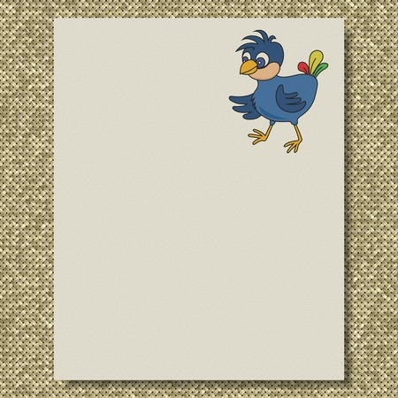 Bird writing paper knit texture background Фото со стока