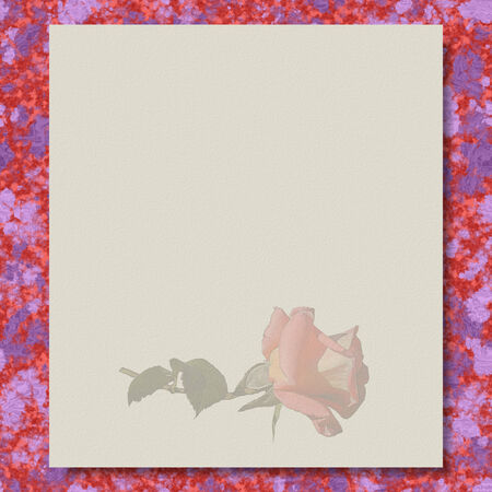 Rose writing paper marble texture background