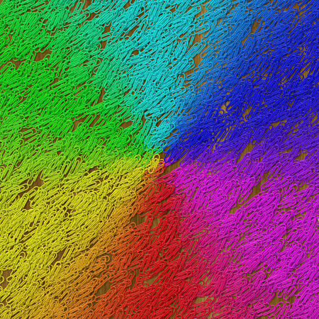 fasteners: Rainbow gradient paper clips image generated texture background