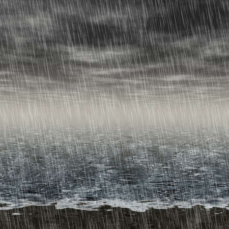 seacoast: Abstract rainy landscape generated hires background