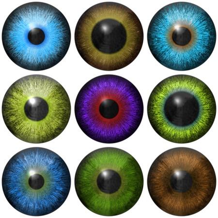 Set of eye iris generated textures