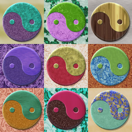 fateful: Set of yin-yang symbol generated textures