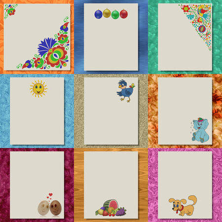 Set of writing paper textures