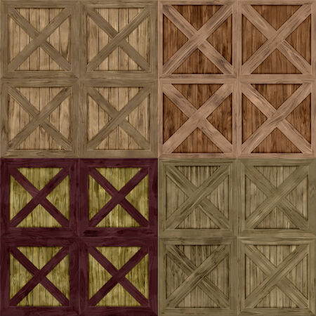 mahogany: Set of wood crate generated textures