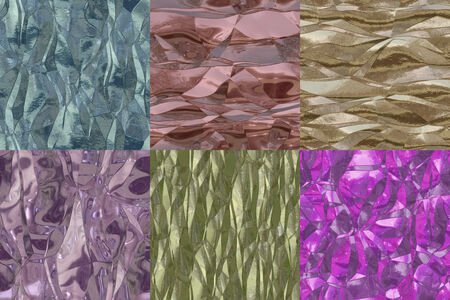 Set of metal foil seamless generated textures photo