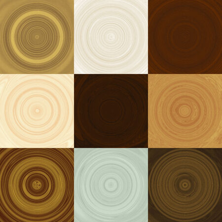 Set of wood rings generated textures photo