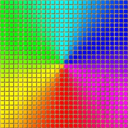 Rainbow gradient pixelated image generated texture