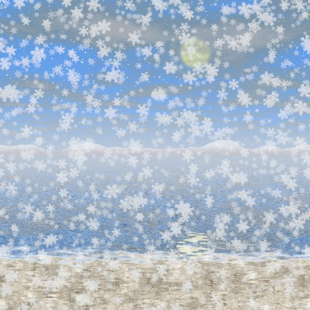 Snowy landscape generated hires background Stock Photo