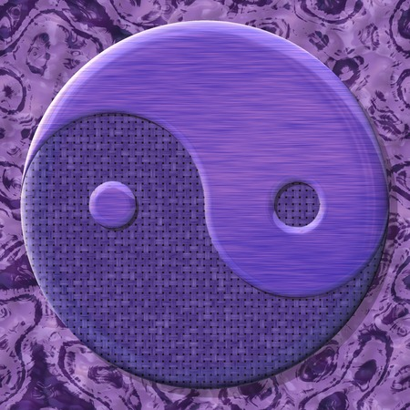 yinyang: Yin-yang symbol with generated texture  Stock Photo