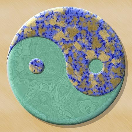 生成されたテクスチャのシームレスな背景の陰陽記号