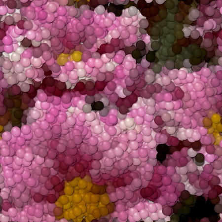 Flowers image balls generated hires texture Stock Photo