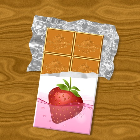 Chocolate generated texture background photo