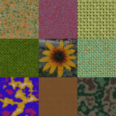 Set of colored knit seamless generated textures photo