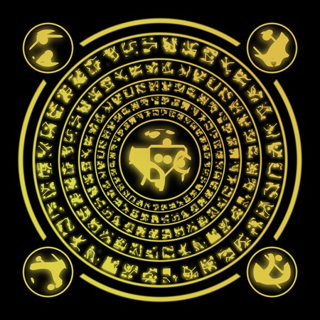 runes: Runes g�n�r�s embauches texture Banque d'images