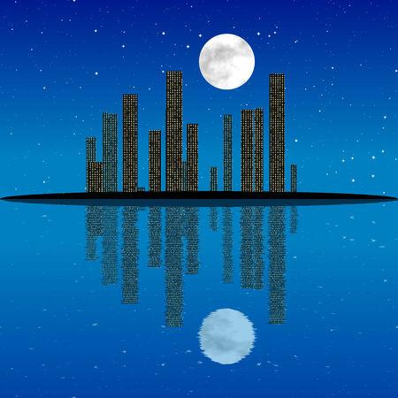 generative: Night cityscape generated texture