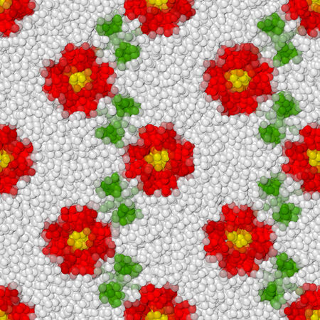 Flowers image balls generated seamless hires texture photo