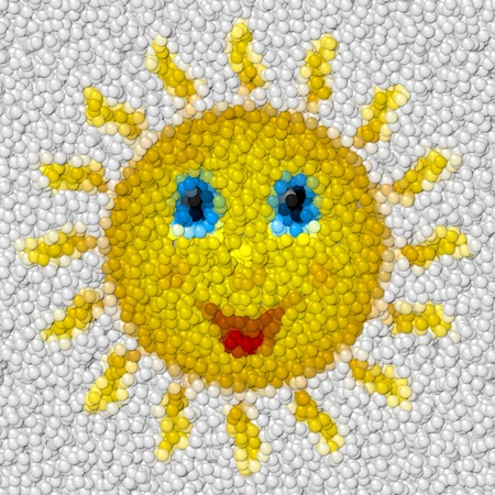 Happy sun image balls generated hires texture Stock Photo