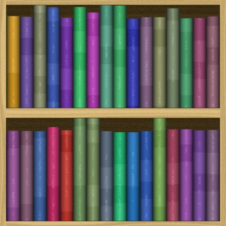 Bookshelf generated hires texture photo