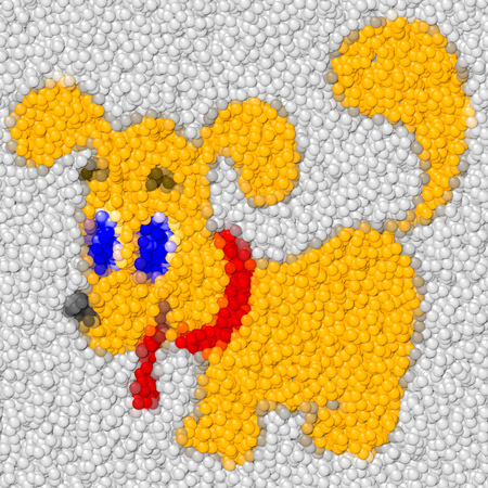Dog image balls generated hires texture