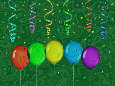 bas relief: Confetti relief painting on generated marble texture background