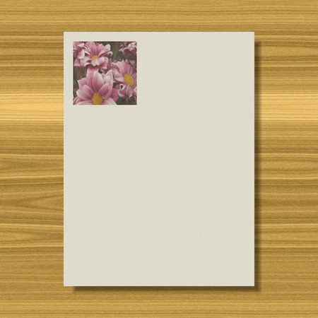 Flowers writing paper texture background