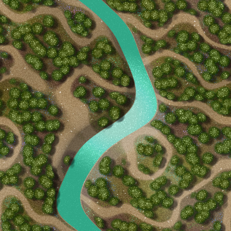 birds eye view: Mini landscape generated hires background Stock Photo