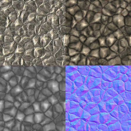 Rocks seamless generated texture (with diffuse, bump and normal map)