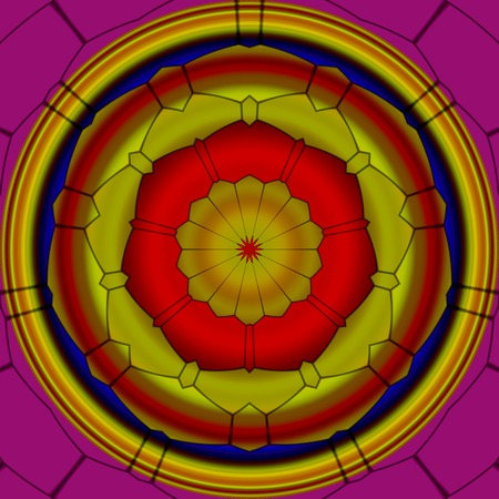 Mandala ornament generated texture Stockfoto