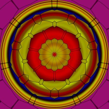 Mandala ornament generated texture Foto de archivo