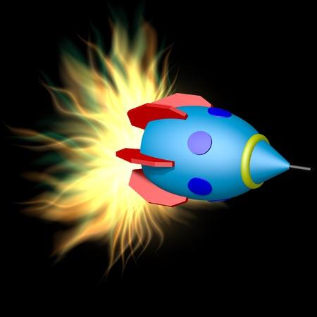 explosion engine: Toy rocket with plasma engine