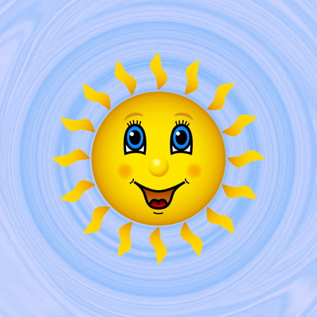 Happy sun on blue sky generated texture background photo