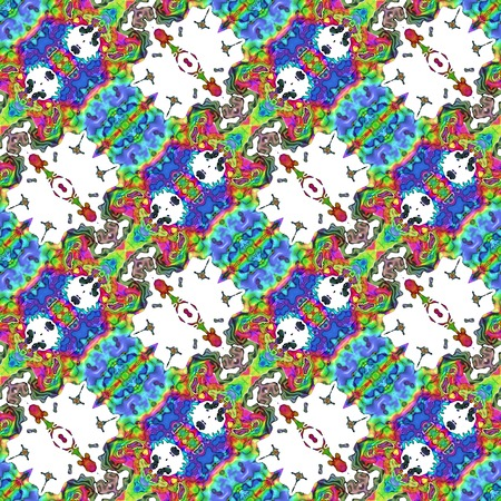 Kaleidoscopic seamless generated texture Stock Photo - 34131136