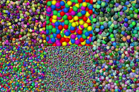 Set of balls seamless generated texture photo