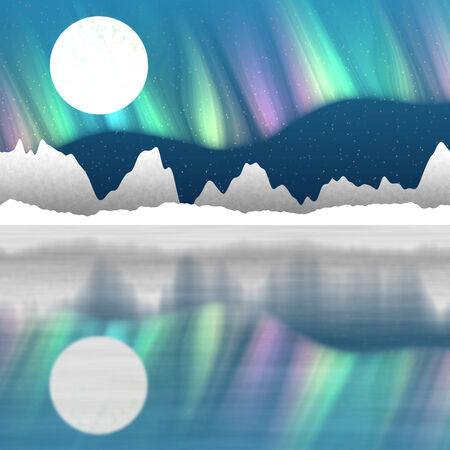 Arctic pole landscape generated hires background