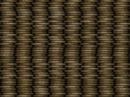 finance background: Coin stack seamless generated texture Stock Photo