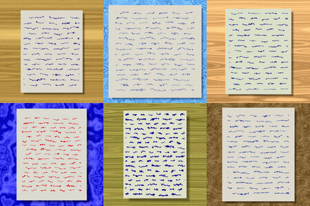 post scripts: Set of abstract letter generated textures