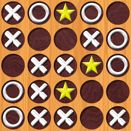 tic tac toe: Tic Tac Toe wooden board generated seamless texture Stock Photo