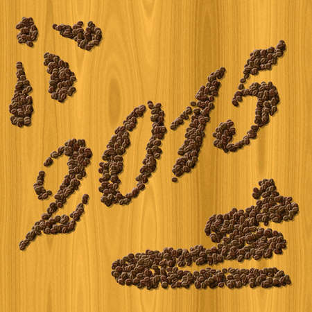 pf: Coffee New Year 2015 generated texture background Stock Photo