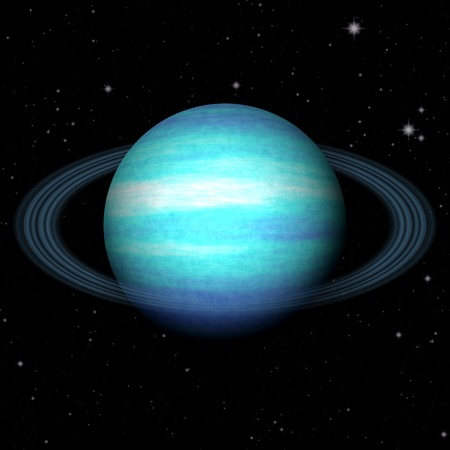 Abstract Uranus planet generated texture background
