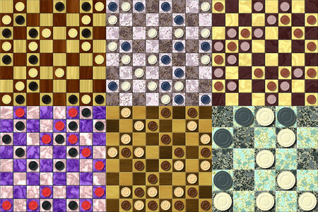 Set of checkerboard generated seamless texture photo