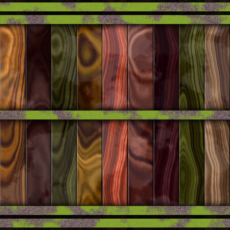 barrel tile: Wood barrel generated seamless hires texture