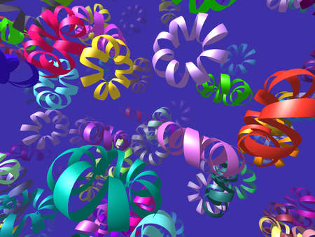 circlet: Flying ribbons generated 3D background