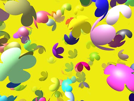 generated: Flying flowers generated 3D background