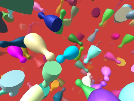 specular: Flying pieces generated 3D background