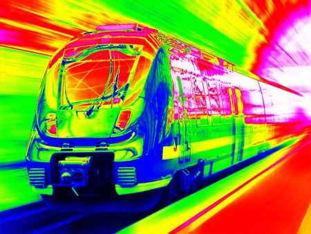 thermogram: Infrared fast train