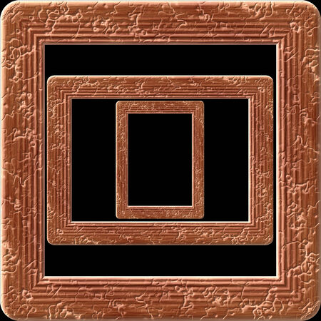Wooden picture frame generated isolated texture photo