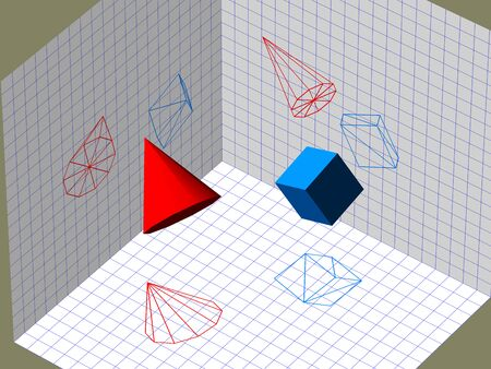 descriptive: Descriptive geometry 3D projection